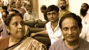 Prof Ilina Sen and Dr Binayak Sen at a meeting on the human rights in India, Delhi/May 7, 2011. (image: Prakash K Ray)