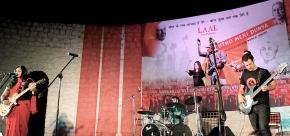 Tritha Electric performing at the JNU May Day Concert/ photo: Prakash K Ray