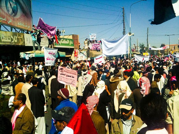 Protest in Sanaa, Yemen (February 3, 2011)/ wiki