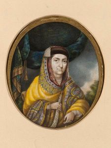 Begam Samru, a portrait by Jiwan Das, 1830