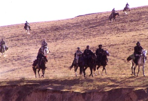 U.S. special forces troops ride horseback as they work with members of the Northern Alliance in Afghanistan during Operation Enduring Freedom on Nov. 12, 2001./image: UD Deptt of Defence/wiki)
