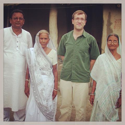 In Mohamdiya Gaon with Renu's son Padam Parag Ray (Venu), and Renu's sisters Mahati Devi and Manu Devi