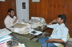 कॉमरेड अतुल अंजान के साथ वसीम अकरम