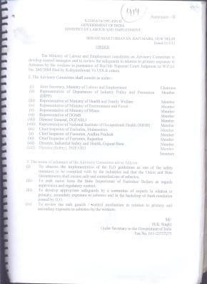 Labor Ministry's Advisory Committee for ILO Asbestos Resolution (2)