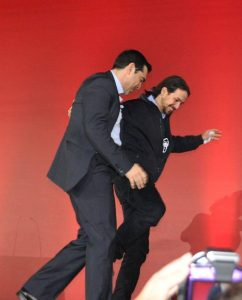 Alex Tsipras and Pablo Iglesias